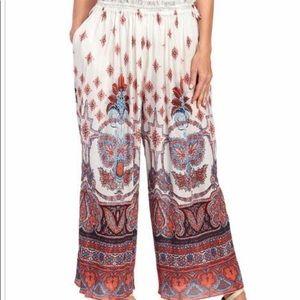 Free People wide leg cropped pants